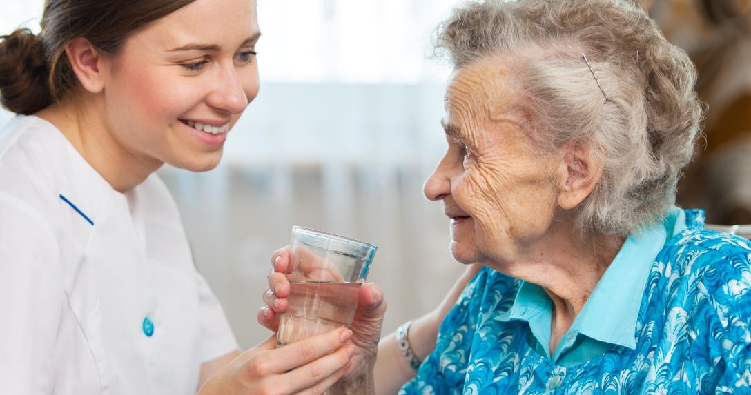aquarate nurse and patient